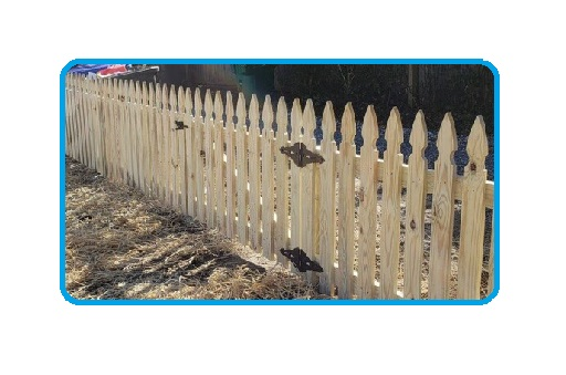 french gothic picket wood fence