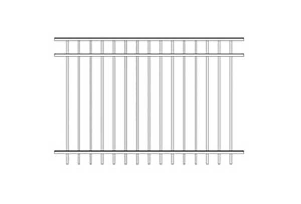 Alumi-Guard Ascot 3-Channel (Not Pool Compliant) Aluminum Fence