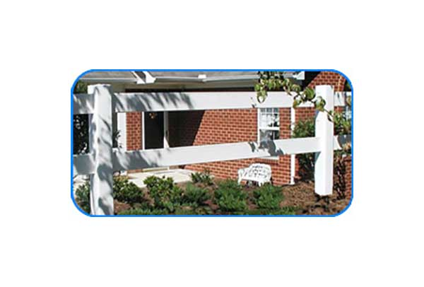 2-rail vinyl board fence