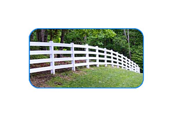 4-rail vinyl board fence