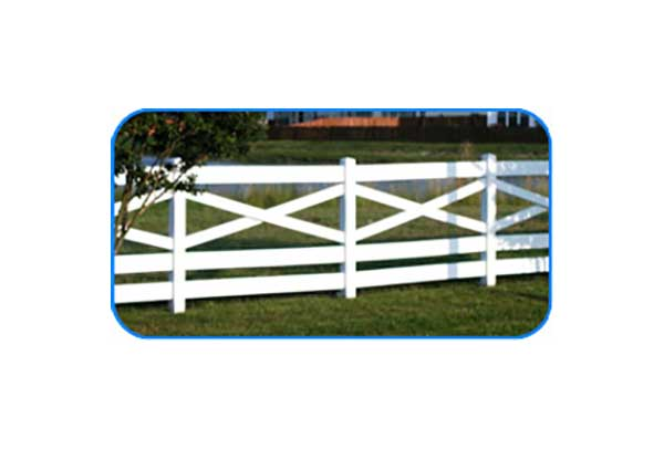 crossbuck vinyl board fence
