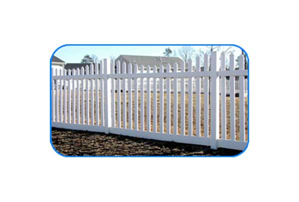 new enland wide vinyl picket fence